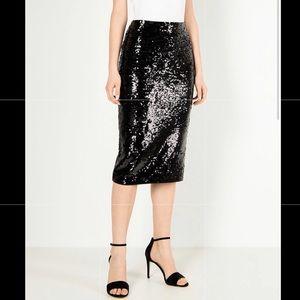 Michael Kors Women's Midi Skirt Sequined Black
